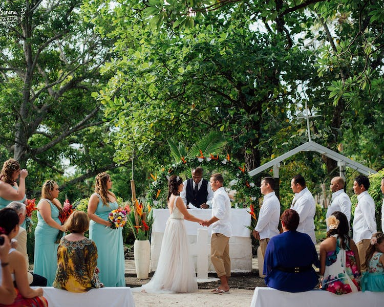 Erakor Islands Open Air Chapel #erakorbeachweddings #weddingceremonyonthebeachsouthpacific #Vanuatutropicalbeachweddings