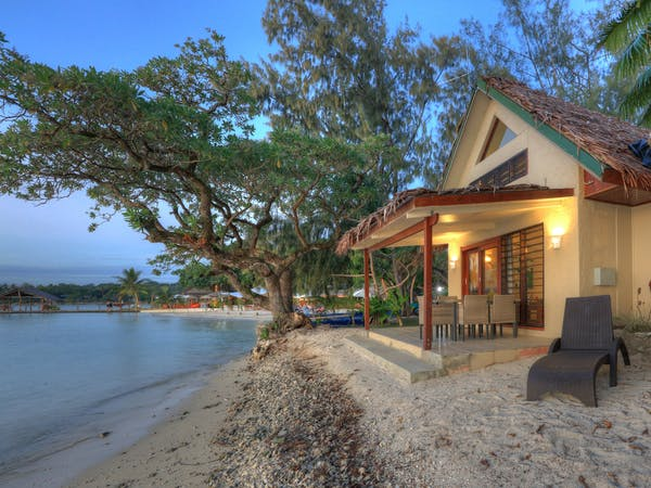 erakor island resort waterfront deluxe spa villa #erakorislandresort #tropicalislandholiday #Vanuatuaccommodation