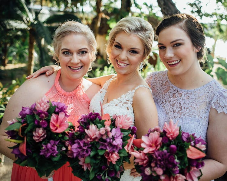 #erakorbeachweddings #weddingceremonyonthebeachsouthpacific #Vanuatutropicalbeachweddings pink & purple bridal bouquet