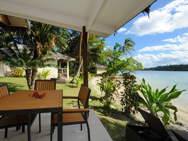 Beachfront Family Loft Outdoor Deck erakor island resort Vanuatu tourism