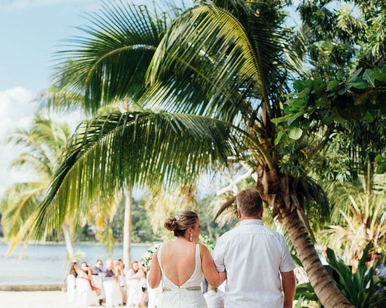 Coconut Beach Wedding Ceremony #erakorweddings #weddingceremonyonthebeach #Vanuatutropicalbeachweddings