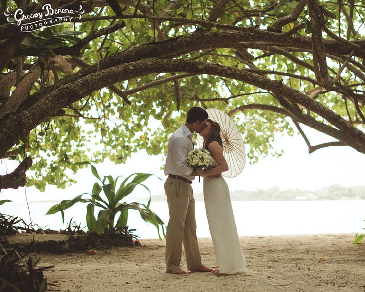 Sunset Beach a romantic little part of Erakor Island #erakorweddings #weddingceremonyonthebeach #Vanuatutropicalbeachweddings
