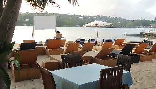 Erakor Islands Pizza & Beach Movie Night every Tuesday night