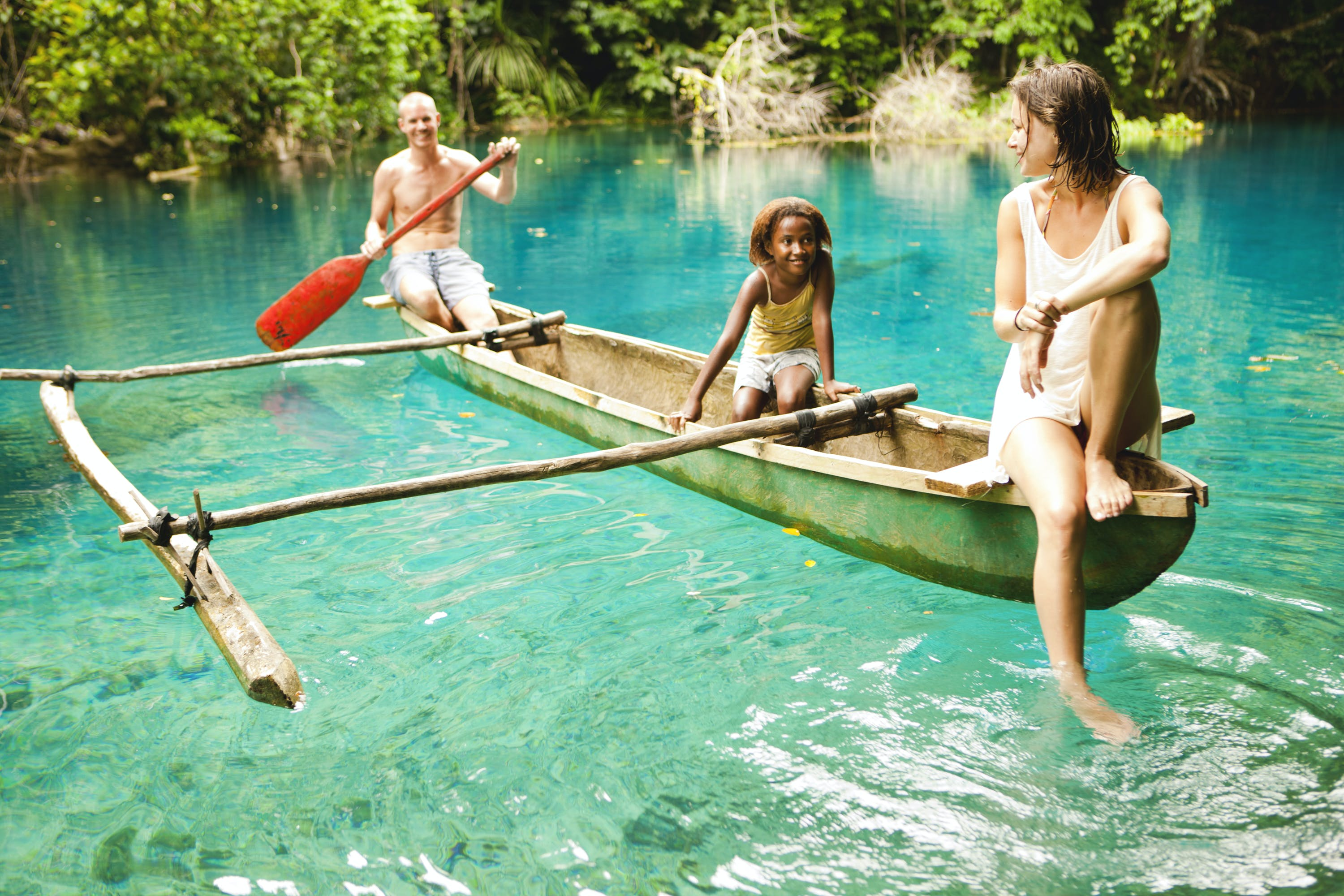Take a tour in an Outrigger Canoe erakor island resort & spa #erakorislandresort #vanuatuholidays #tropicalislandholiday