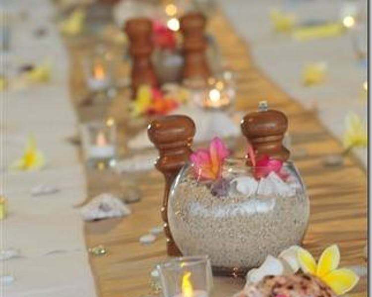 Reception table decor#erakorbeachweddings #weddingreceptionthebeachsouthpacific #Vanuatutropicalbeachweddings