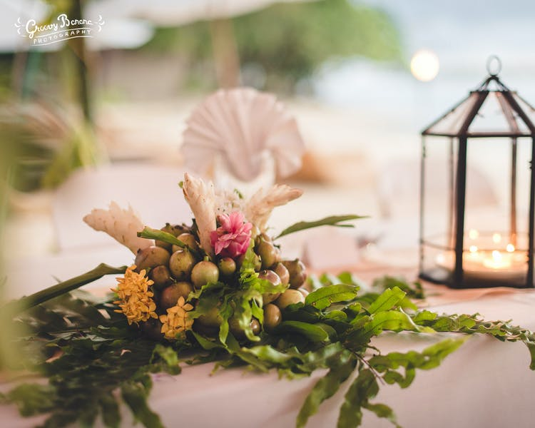 Reception decor #erakorbeachweddings #weddingreceptionthebeachsouthpacific #Vanuatutropicalbeachweddings
