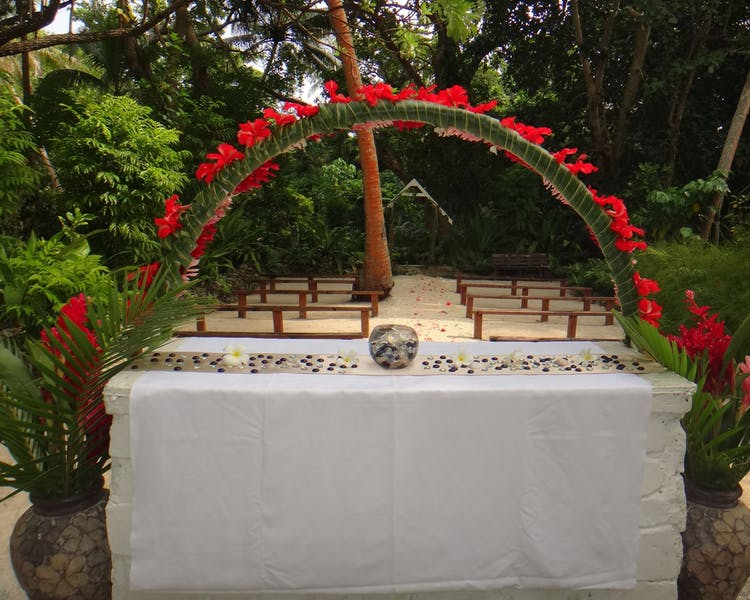 Erakor Island Open Air Chapel #erakorbeachweddings #weddingceremonyonthebeachsouthpacific #vanuatuislandweddings