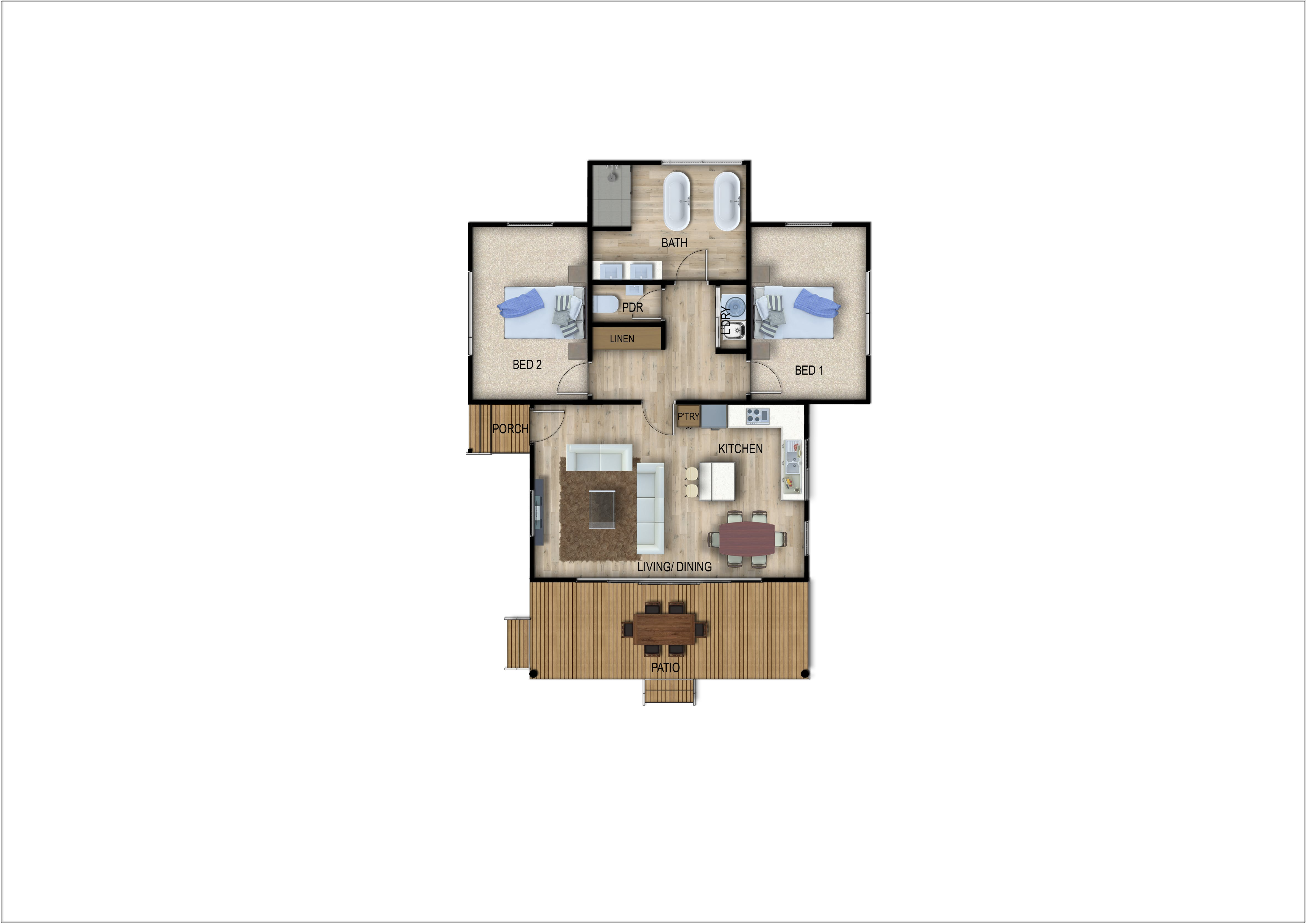 Nihgt Sky Cottage floor plan.