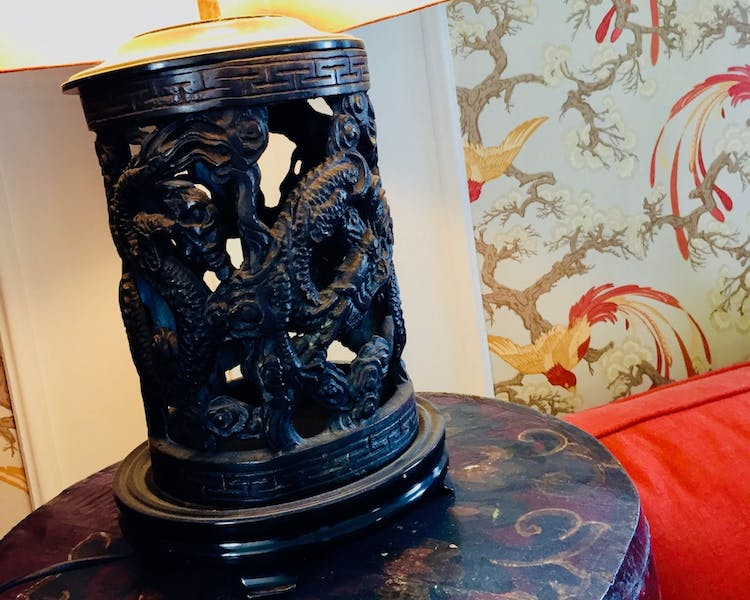 Chinese dragon table lamps