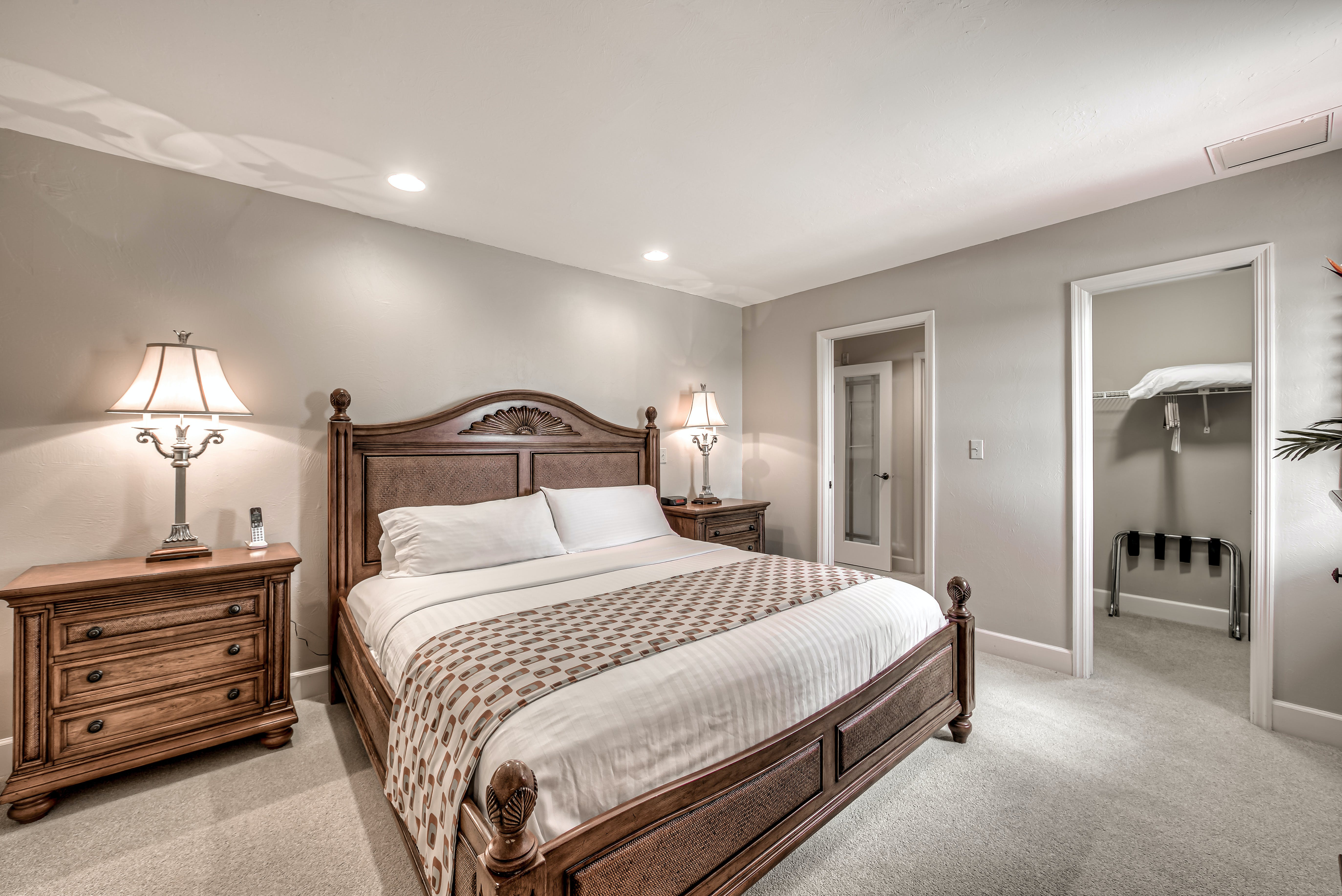 Two Bedroom Suite, master bedroom with king bed