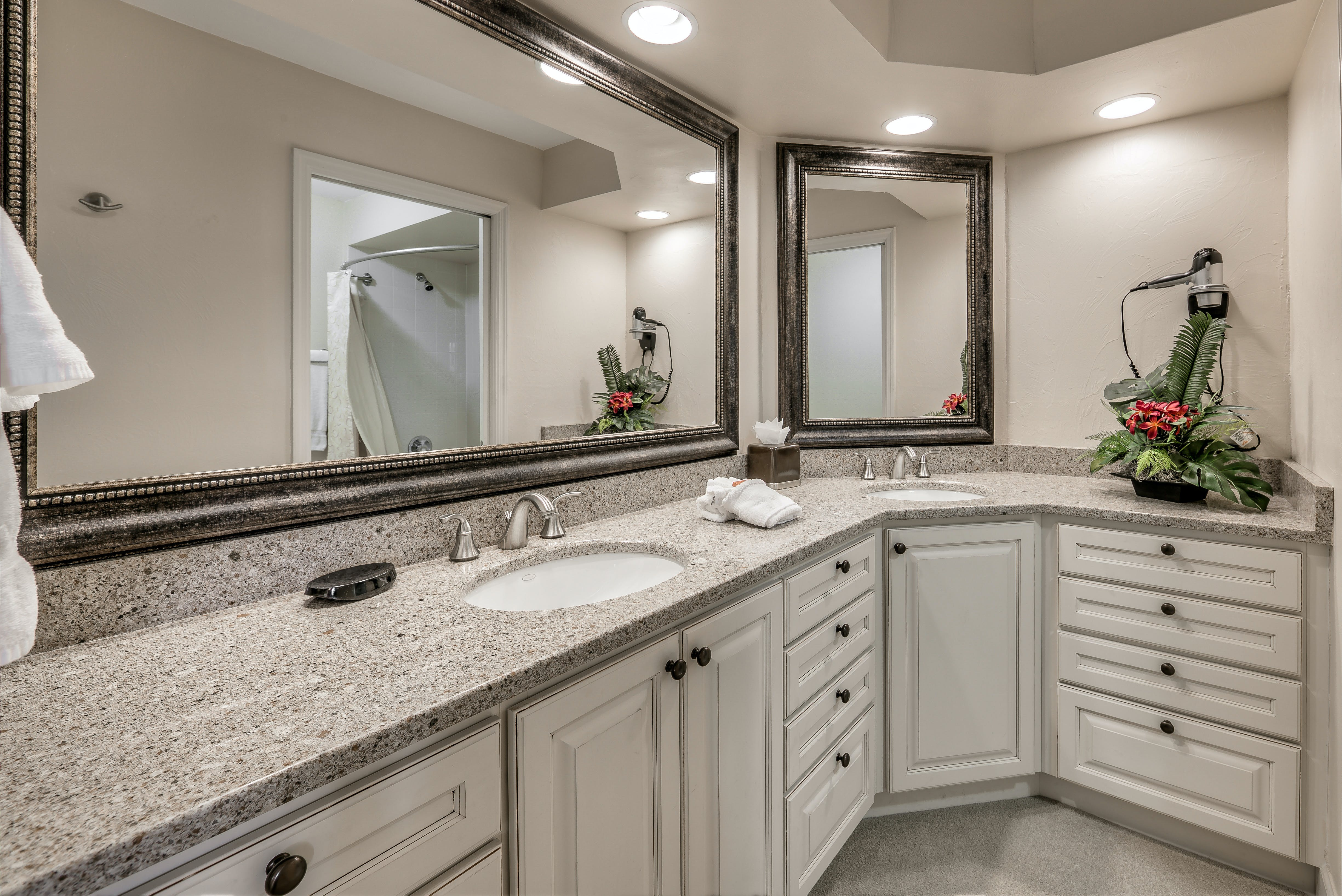 Two Bedroom Suite master bathroom with extended vanity