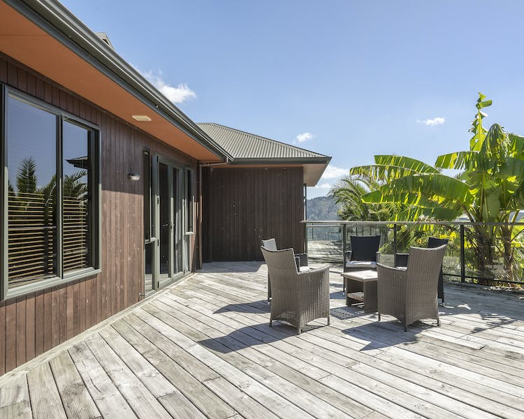 Deck outside Matai and Tui rooms