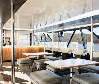 Premier Upper Deck seating on board Spirit of the Wild, Gordon River Cruises