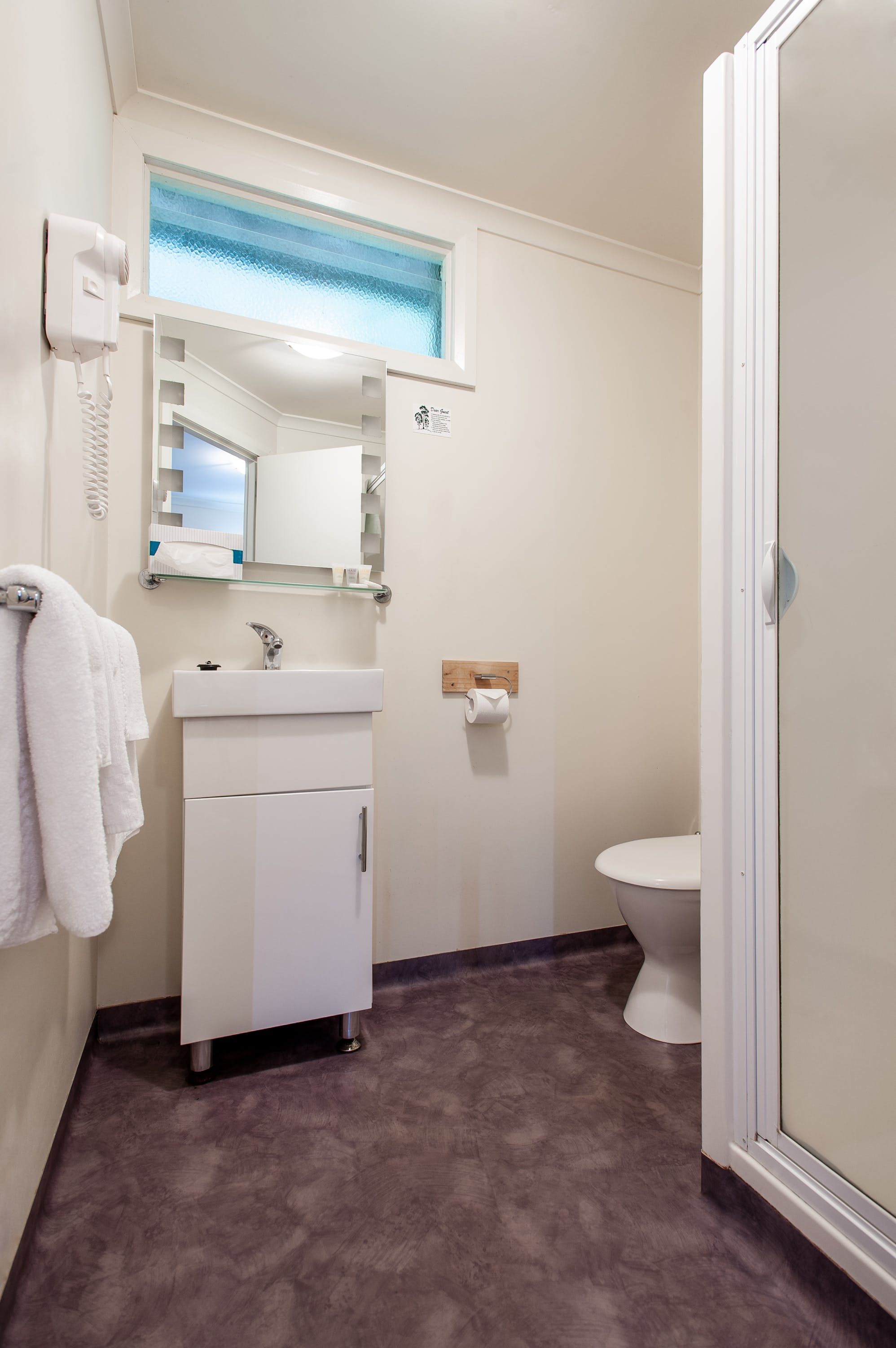 Bathroom in accommodation