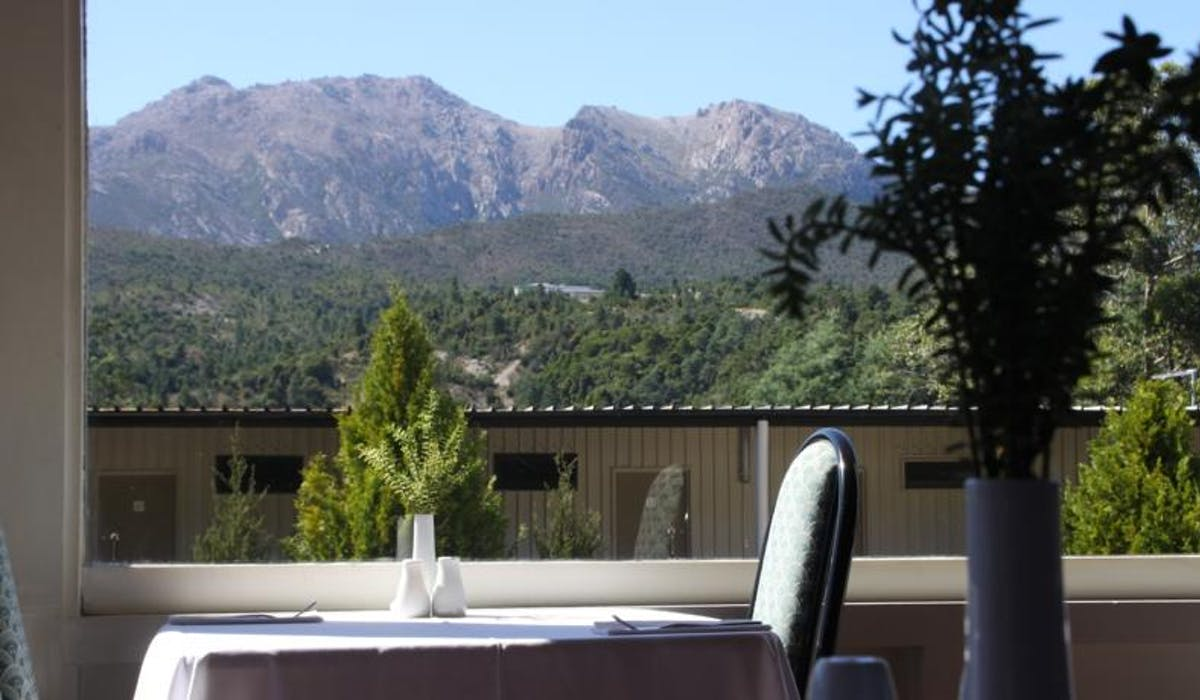 View of Mount Owen from the Restaurant