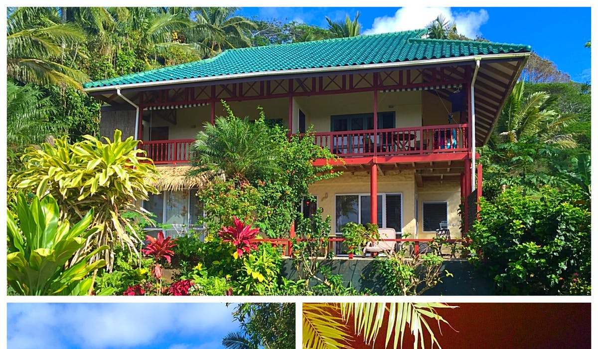 muri retreat apartments set in lush tropical gardens in paradise Rarotonga Cook Islands