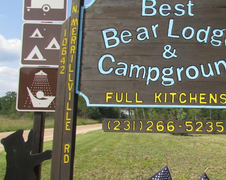 Our sign at Best Bear Lodge & Campground.