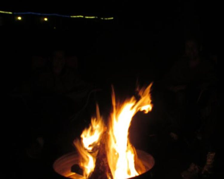 Campfires always welcome at Best Bear Lodge & Campground.