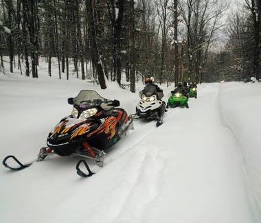 At Best Bear Lodge & Campground you'll have snowmobile trail access