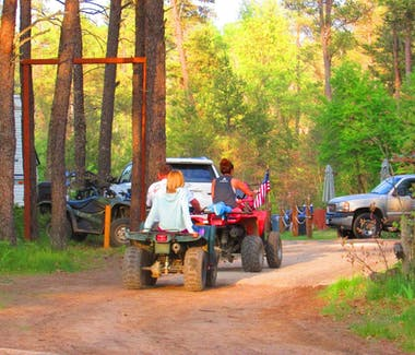 Direct ATV trail access at Best Bear Lodge & Campground