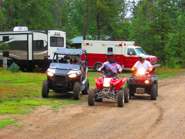 people love to stay and ride atv's at Best Bear Lodge & Campground