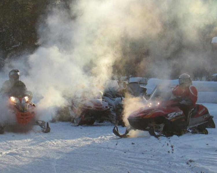 Michigan's best snowmobile trails start at at Best Bear Lodge & Campground