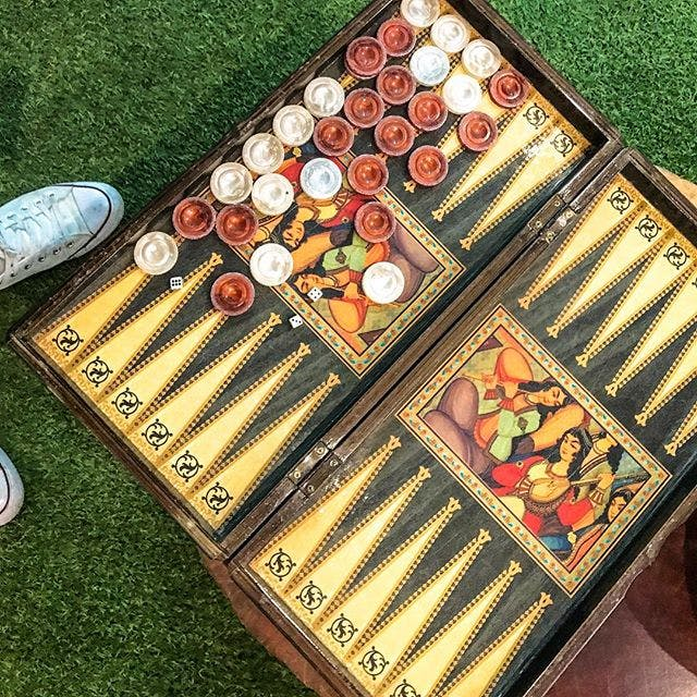Backgammon game, juego de backgammon