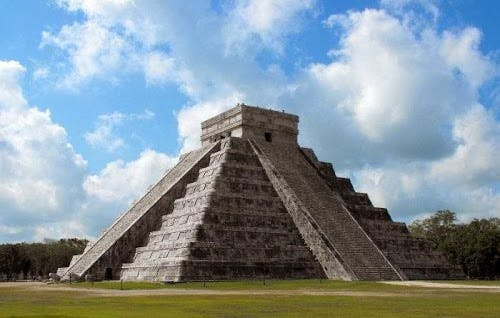 The Chichen-Itza pyramid. Go by bus form our hotel.