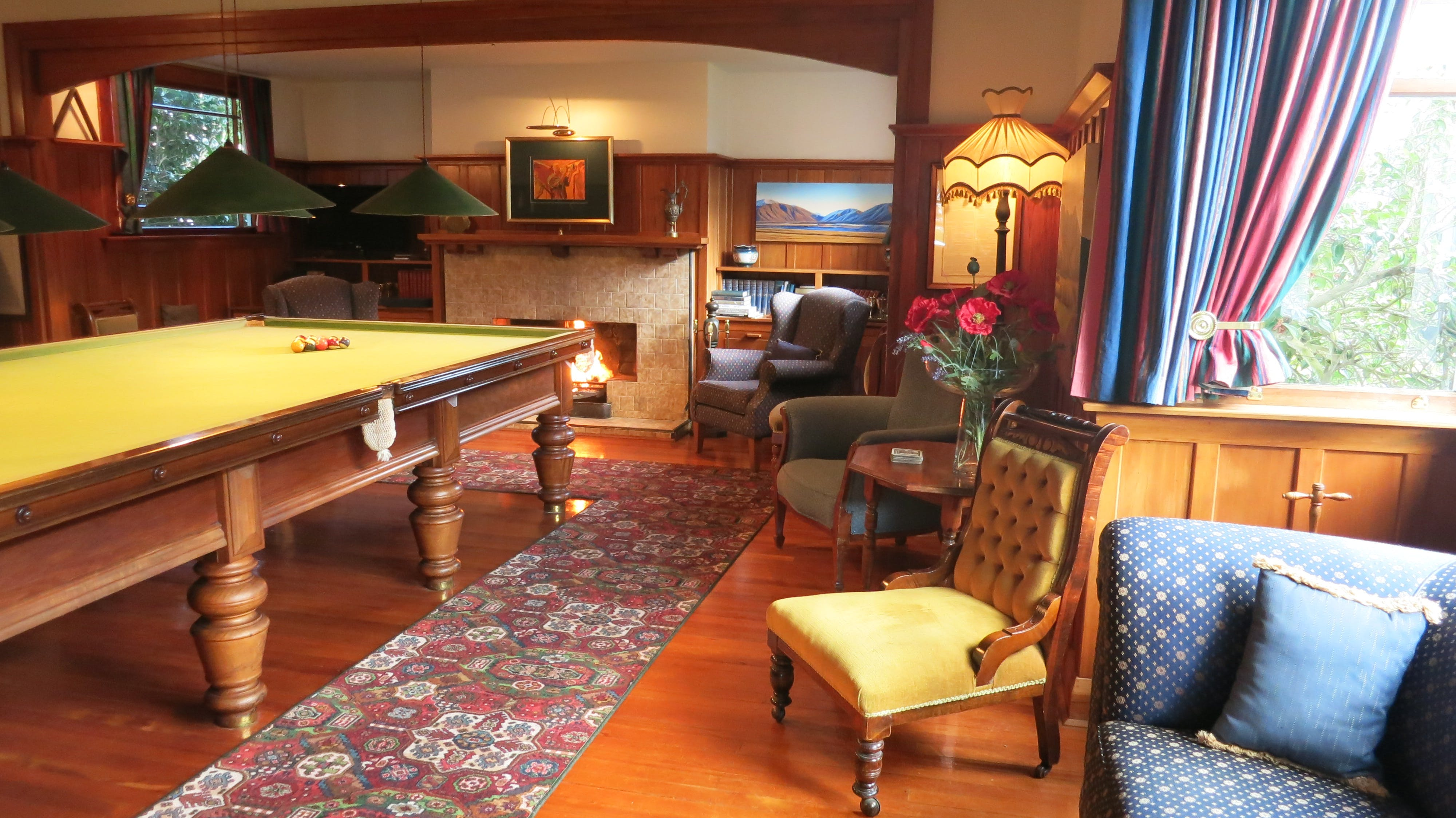 Relax in the billiard room