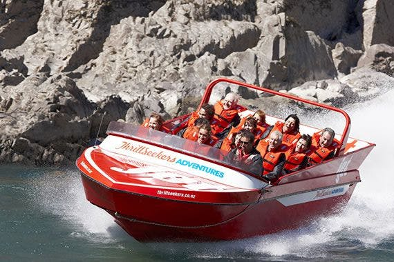 Jet boating on the Waiau river