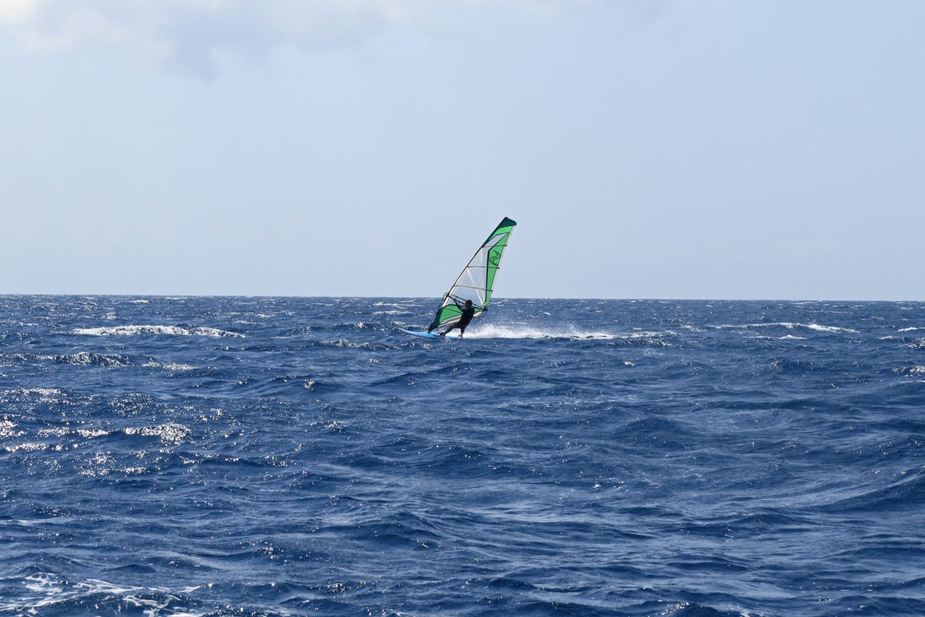 Bangsring Breeze windsurfing at Tabuhan Island