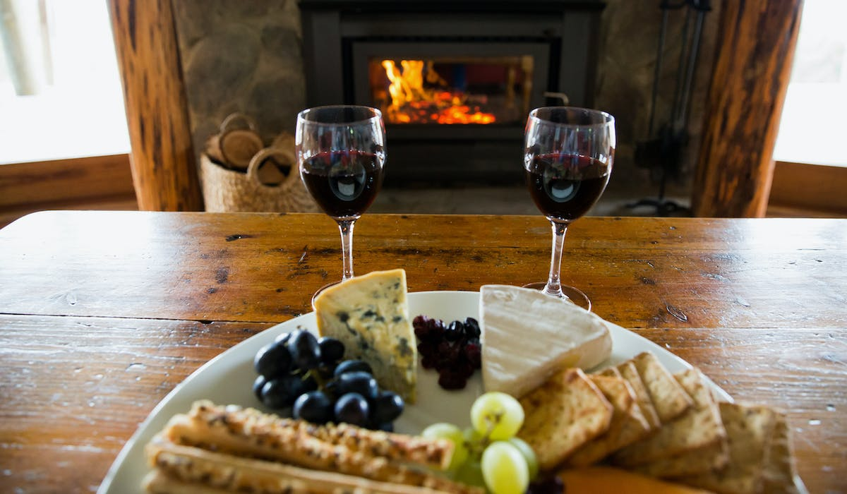 Romantic wood fires in the cottages at Anderley in Gippsland