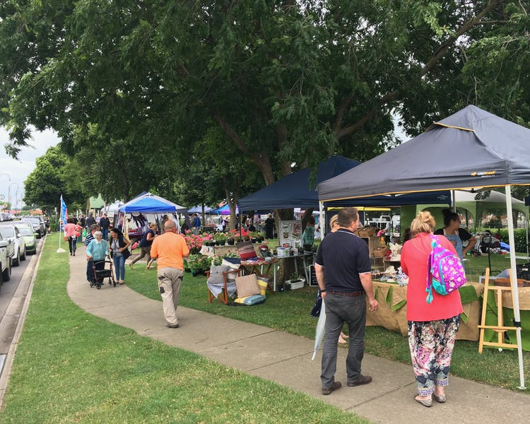 Yarragon Market is on every month and often outdoor on the green in the village