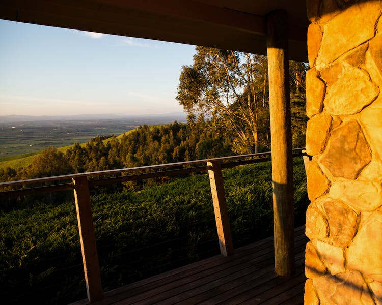 Enjoy the beautiful light and views from the deck at Anderley