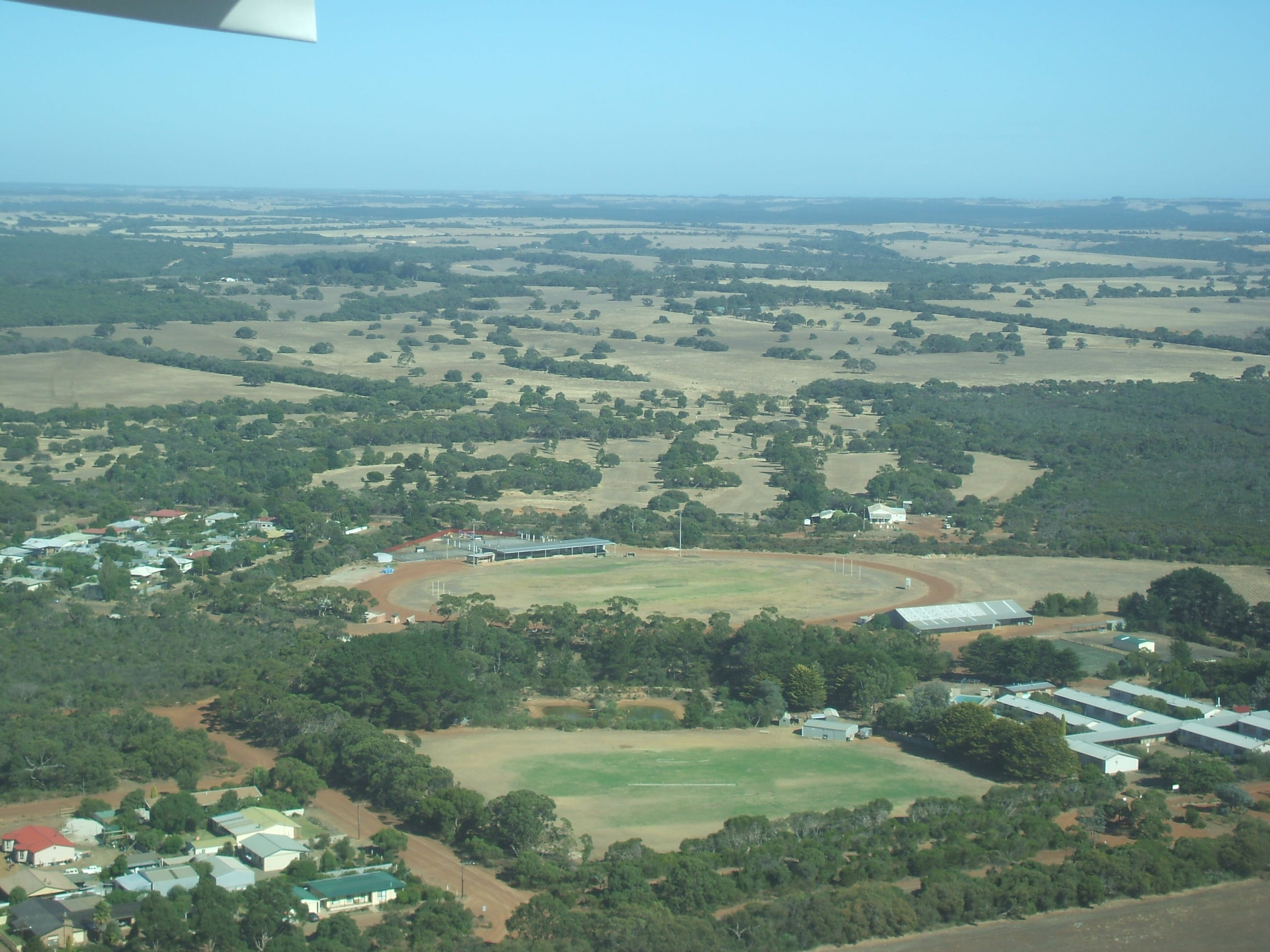 #Arial view of Parndana township in the heartland of Kangaroo Island