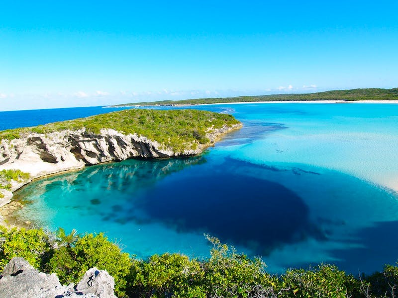 blue hole, stocking island