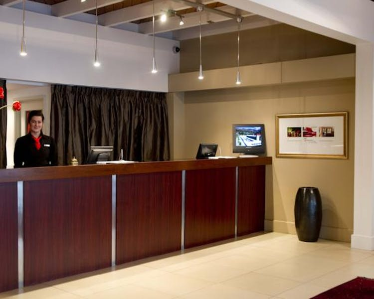 The motel rooms at the Ashley Hotel are contemporary with your total comfort in mind
