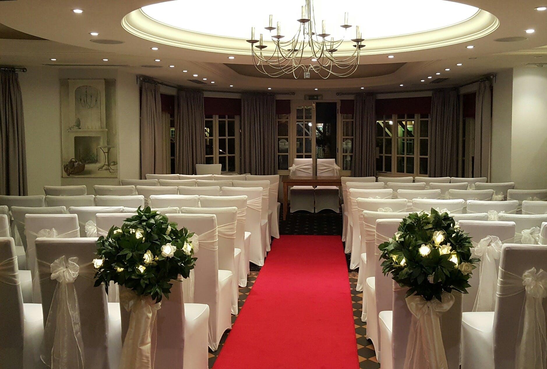 Garden Room Ready For Wedding Ceremony