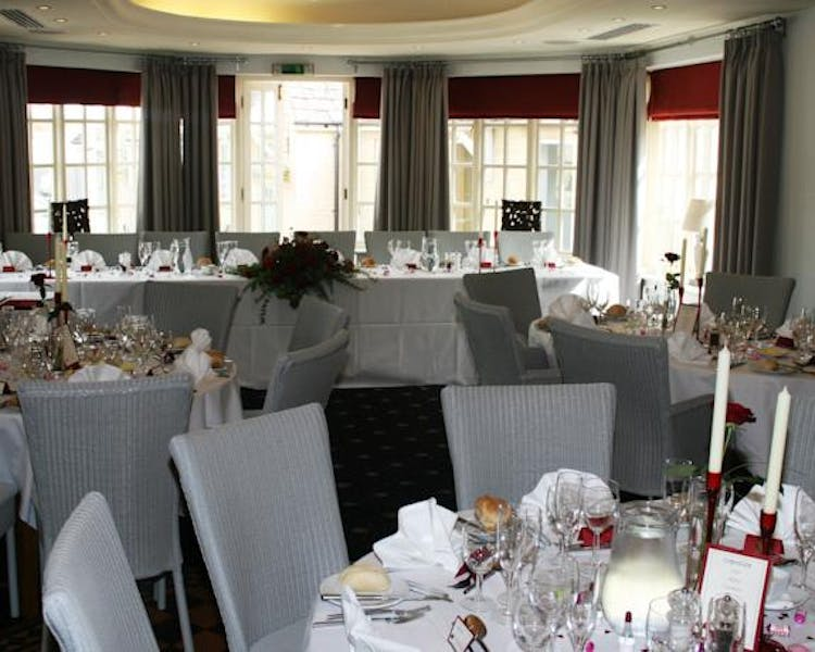 Queens Head Inn Garden Room ready for function