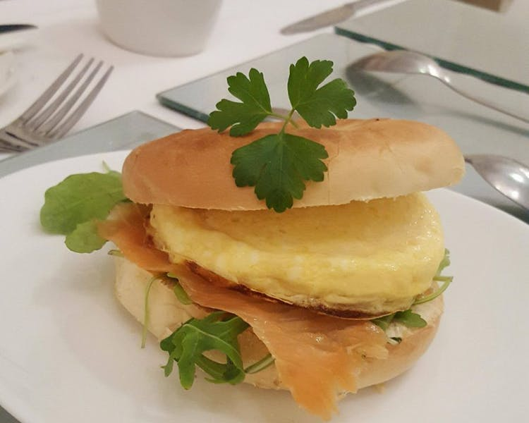 Breakfast Salmon/Egg Muffin