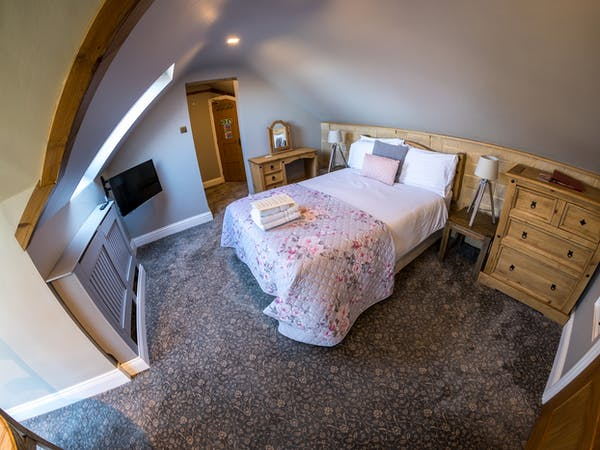 The Castle Deluxe Double bedroom with views