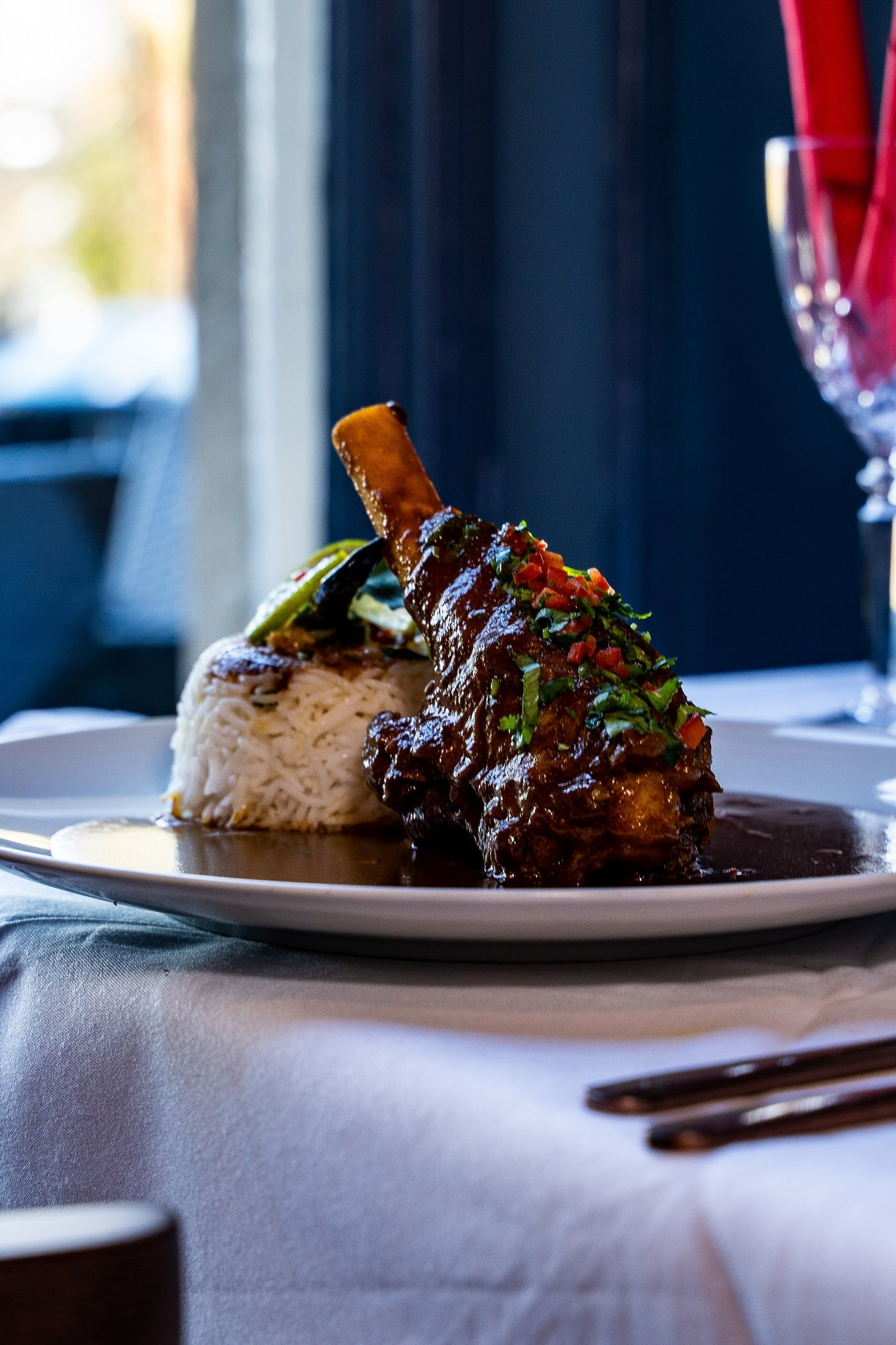 Holi and Bhang Restaurant, signature dish Lamb Shank