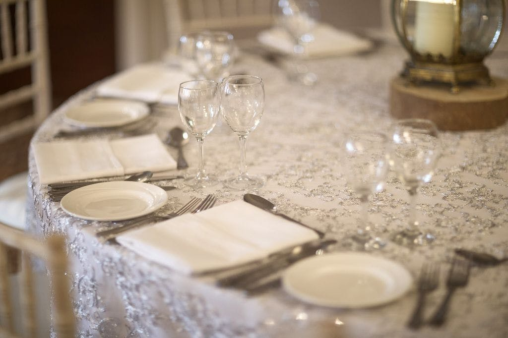 silver service for wedding