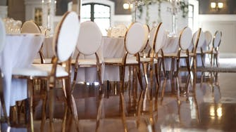 wedding chairs at hotel in donegal