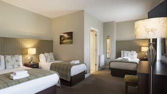 bedrooms at Mulroy woods hotel
