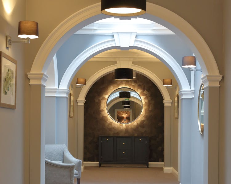Corridor leading to bedrooms at Gorse Hill Hotel