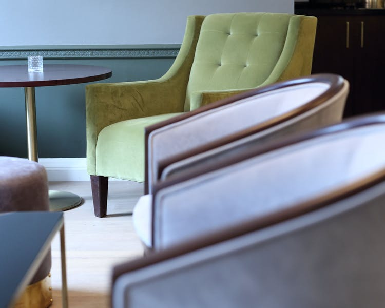 Soft seating in the bar at Gorse Hill