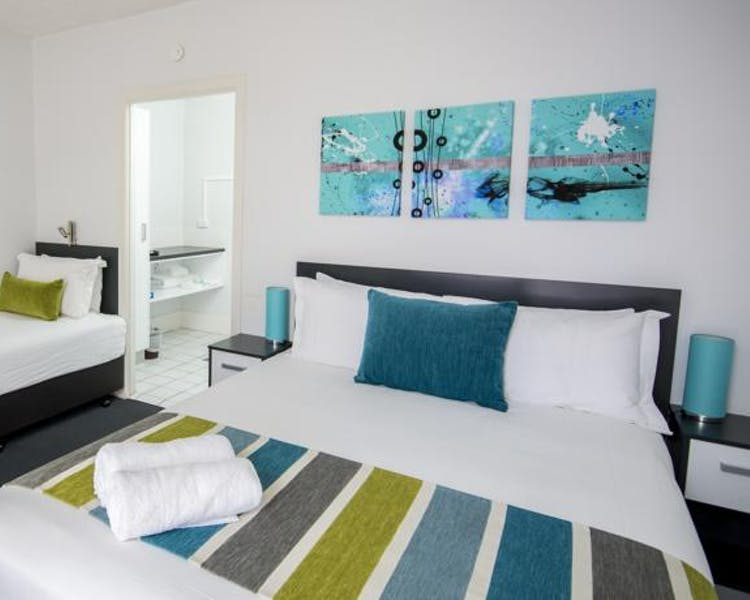 A great option for a few days in Hervey Bay is our standard room, cheaper than a backpackers and private