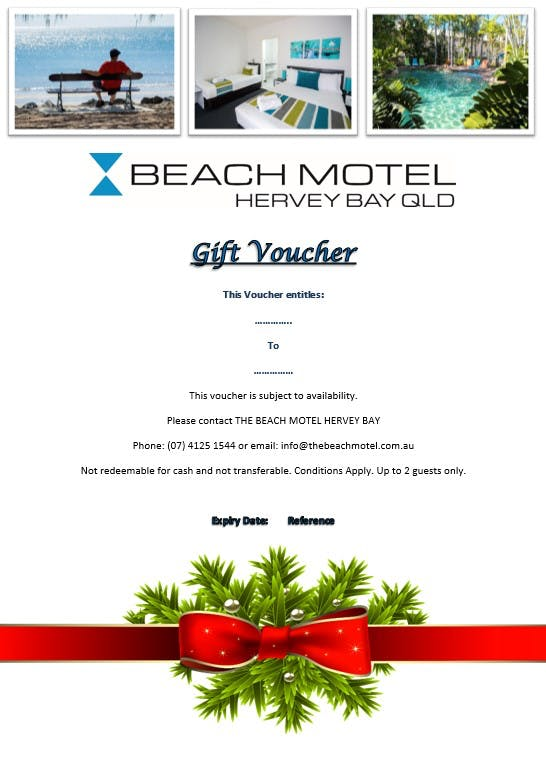 Gift Vouchers are a wonderful way to spoil someone. Why not get a gift voucher to cover accommodation.