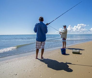Beach fishing in Hervey Bay on Shelly Beach
